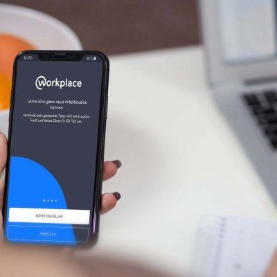 Workplace by Facebook-App auf einem Smartphone