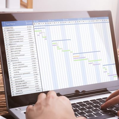SaaS-Mietsoftware auf einem Laptop