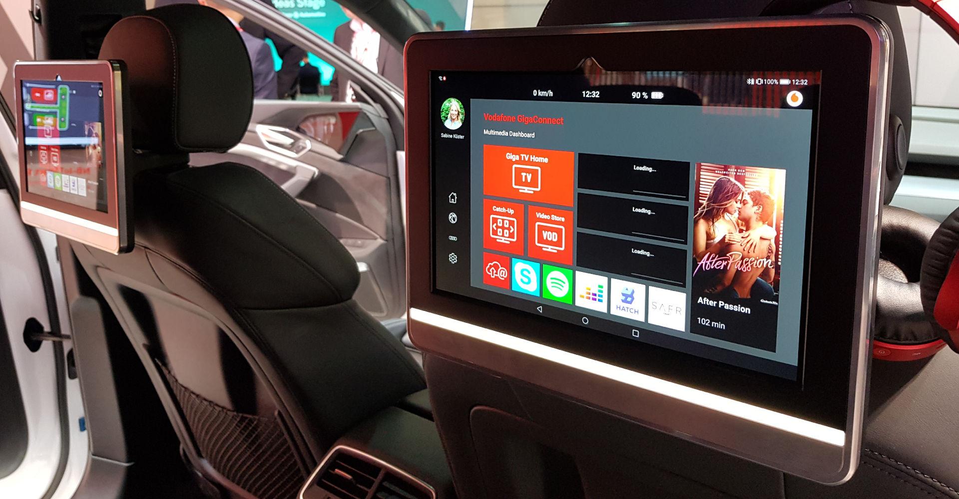 In-Car-Entertainment im Vodafone GigaCar IAA 2019