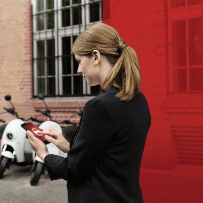 Die 2. Generation der E-Roller von unu sind über Vodafone IoT vernetzt.