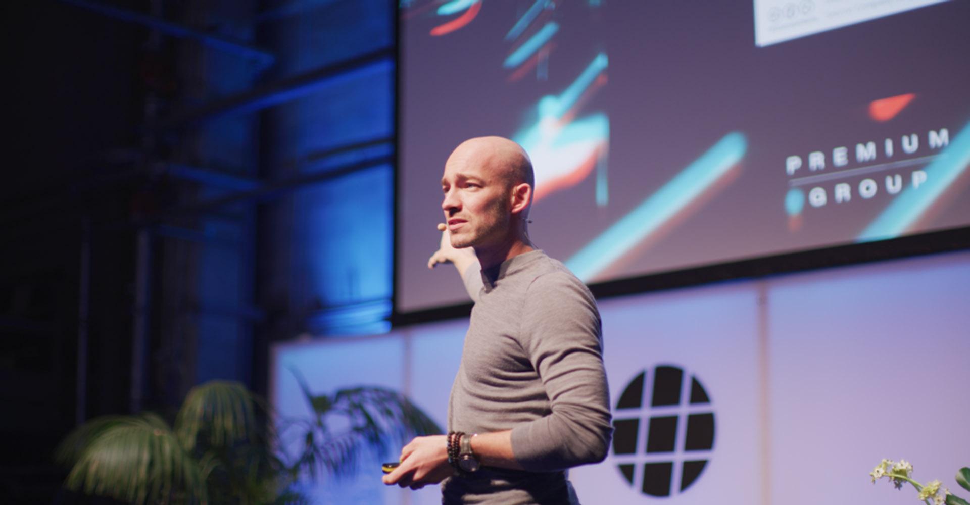 Christoph Magnussen während eines Vortrags