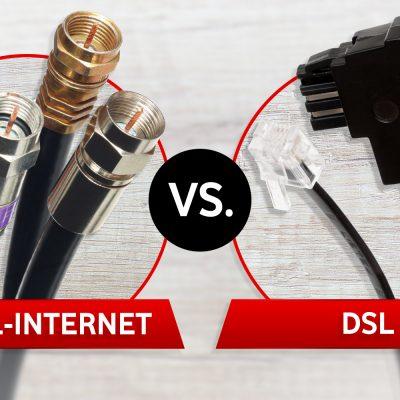Kabel-Internet versus DSL als Symbolbild