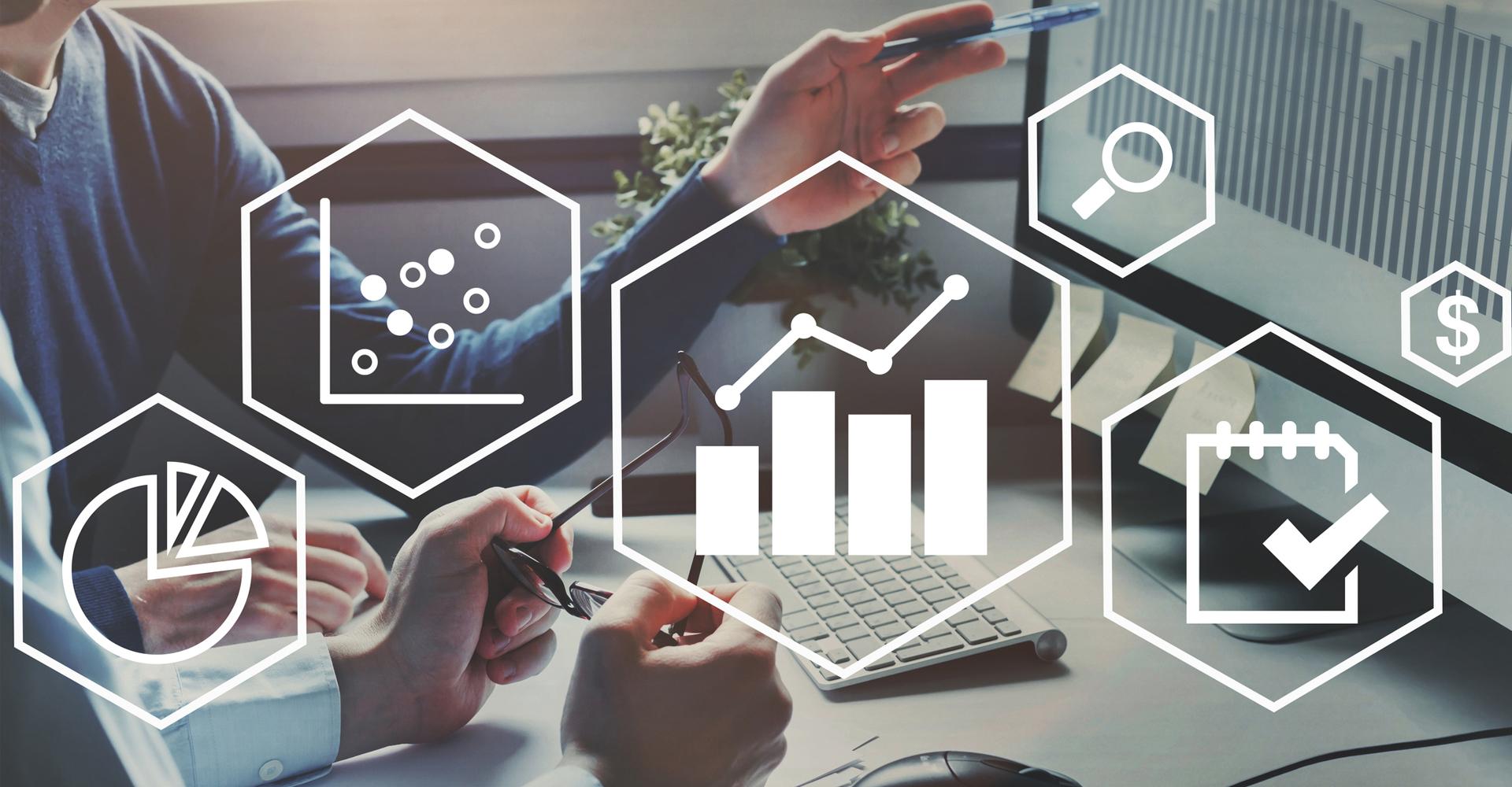 Symbolbild für verschiedene Anwendungen des Data Mining