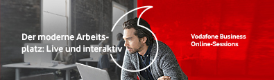 Banner zu Vodafone Business Online Sessions
