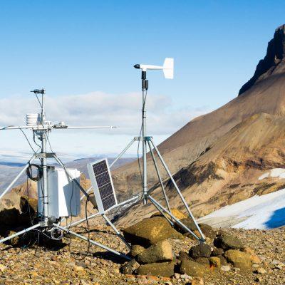 Autarke Wetterstation auf Island