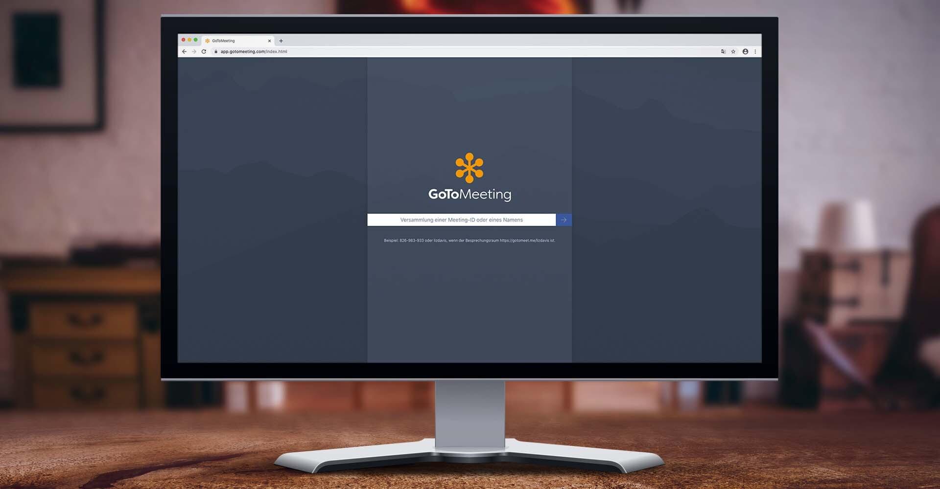 Screenshot der GoToMeeting-Anwendung auf einem Browser