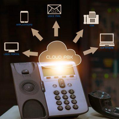 VoIP-Telefon nutzt Cloud-PBX-Infrastruktur