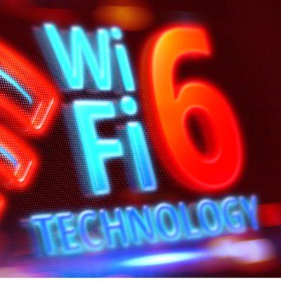 Schriftzug für den neuen WLAN-Standard WiFi 6.