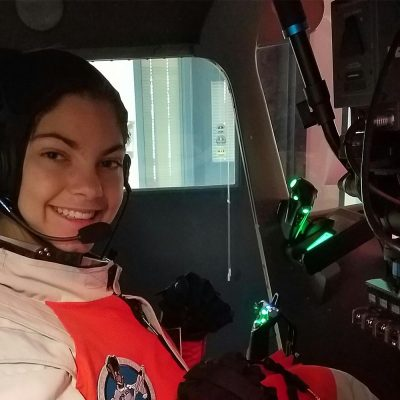 Alyssa Carson during a training session for her Mars mission