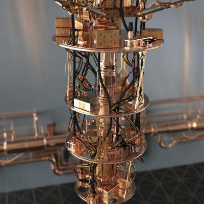 Ansicht eines Quantencomputers