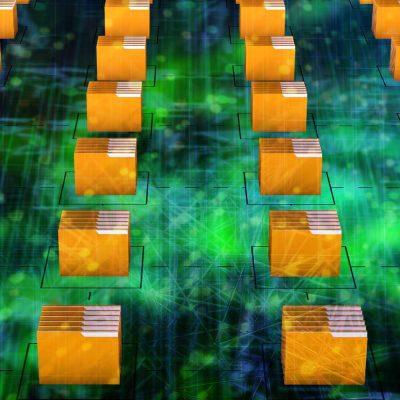 Eine Anordnung von Datenspeicher-Symbolen auf einer Leiterplatte